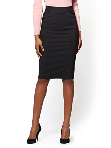 New York & Co. 7Th Avenue - Seamed Pencil Skirt - 10 Black