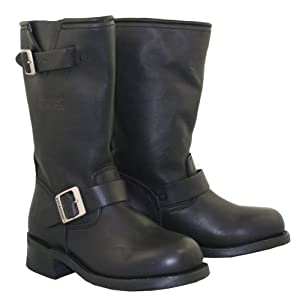 Xelement 2440 Classic Womens Black Advanced Engineer Motorcycle Biker Boots - 8 1/2