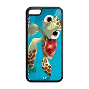Cartoon Sea Turtle Squirt Snap-on TPU Rubber Coated Case Cover for Apple iPhone 5C