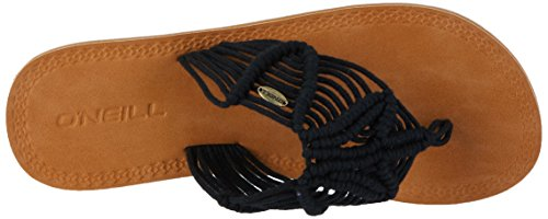 ONeill Fw Crochet Sandal - Chanclas Mujer Schwarz (Black Out)
