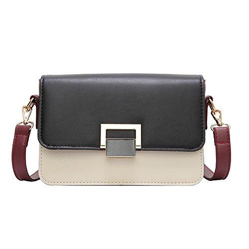 de sencillo bolso color bolsa fácil mujeres nuevo de pequeños moderno de bolso cuadrados y Solo golpear estilo bolsa zHtwg