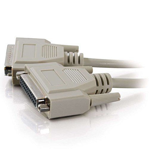 C2G 02655 DB25 M/F Serial RS232 Extension Cable, Beige (6 Feet, 1.82 Meters)