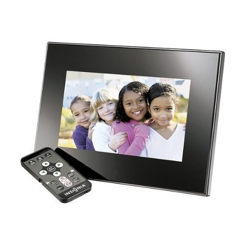 Insignia™ – 7″ Widescreen LCD Digital Photo Frame – Black For Sale