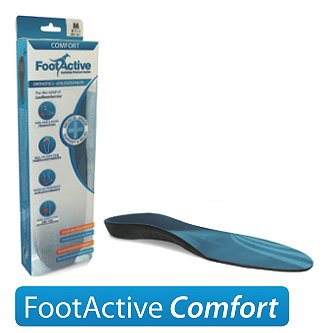 FootActive COMFORT Premium Insoles – NHS-APPROVED Full-Length Arch Support Orthotic Insole Proven to Help Reduce Heel Pain, Plantar Fasciitis, Knee/Back Pain & Achilles Tendonitis (UK 9 - 10.5 large)