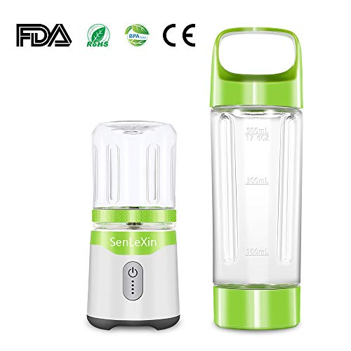 Portable Blender, Personal Size Eletric USB Juicer Blender With 2 FDA Approved Cups, Fruit, Smoothie, Baby Food Mixing Machine with Updated 6 Blades,Magnetic Secure Switch ElectricJuicer Blender for Superb Mixing For Sale