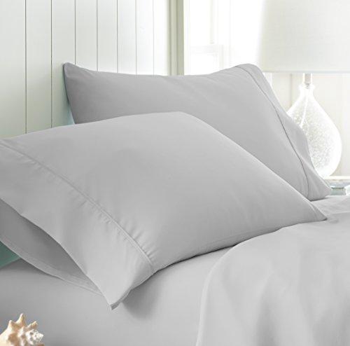 (ienjoy Home Pillow Case Set, Standard, Light Gray)
