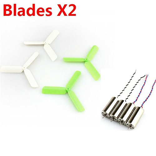 Price comparison product image Quickbuying 2X Eachine 3-blade Propeller 8Pcs 8.5x20mm Coreless Motor 4Pcs For DIY Micro FPV Quadcopter Multicopter Frame