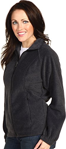 Columbia Women's Benton Springs Classic Fit Full Zip Soft Fleece Jacket, charcoal heather, L by Columbia (Image #1)