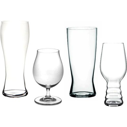 Spiegelau Beer Classics 16 Piece Non-Leaded Crystal Craft Beer Glass Tasting Kit by Spiegelau