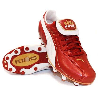 Puma - Botas de fútbol para hombre rojo rojo