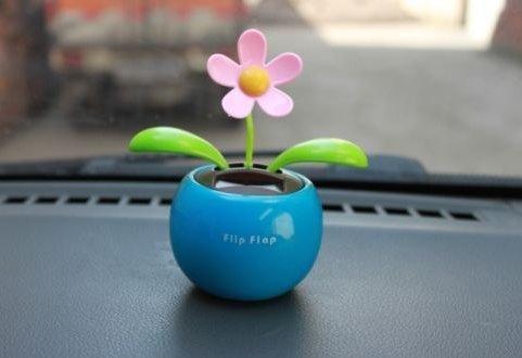 Dasuke voiture soleil fleur mignon solaire swing Fleur dansante à énergie solaire
