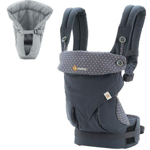 Ergo Baby 4 Position 360 Dusty Blue Carrier with Grey Insert by ERGObaby