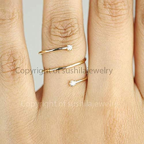 Amazon Com 14k Solid Yellow Gold Natural Si Clarity G Color