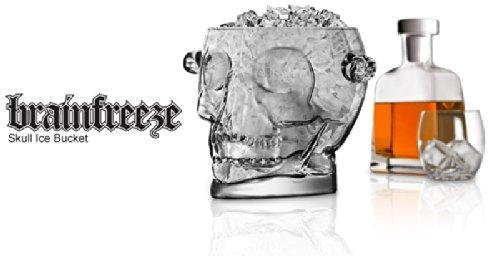 Final Touch Glass Brain Freeze Skull Ice Bucket