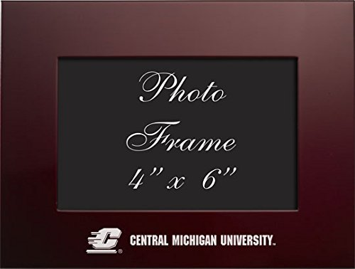 Central Michigan University - 4x6 Brushed Metal Picture Frame - Burgandy