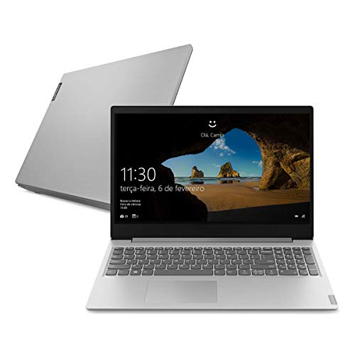 "Notebook Lenovo Ultrafino ideapad S145 Ryzen 3 8GB 256GB SSD Windows 10 15.6"" 81V7000CBR Prata"
