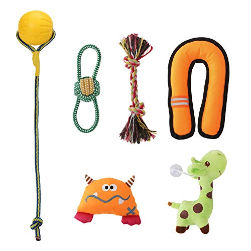 - Jaolex Dog Squeak Toys Chew Toys Puppies Toy Throw Toy for Dogs Lofted Toy for Dogs Doggy Tug Pull Knotted Ball