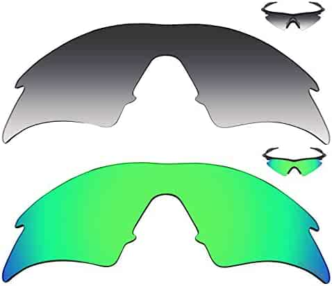 0255866f0d Mryok+ 2 Pair Polarized Replacement Lenses for Oakley M Frame Sweep Sunglass  - Grey Gradient Tint