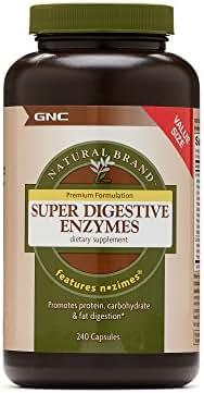 GNC Natural Brand Super Digestive Enzymes Value Size 240 caps
