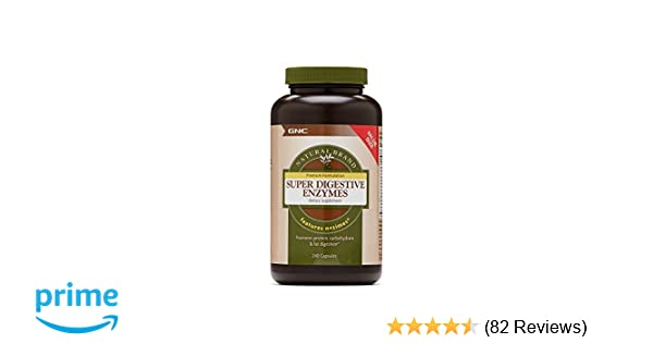 GNC Natural Brand Super Digestive Enzymes Value Size 240 caps