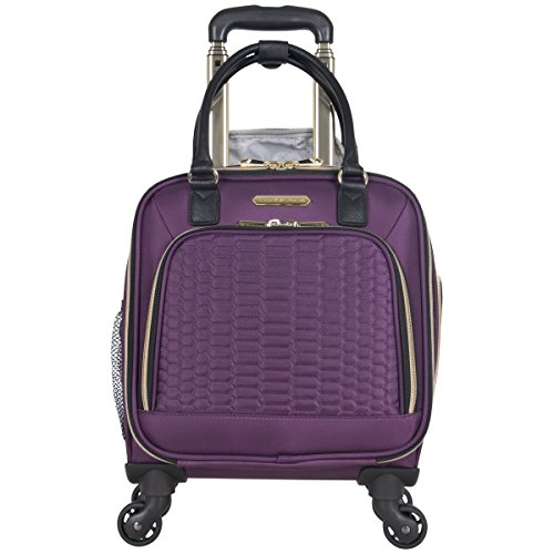 "Aimee Kestenberg Women's Florence 16"" Polyester Twill 4-Wheel Underseater Carry-on Luggage, - Luggage Spinner Underseat"