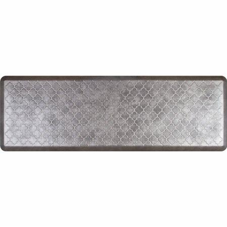 WellnessMats Estates Collection Essential Series Silver Leaf Trellis 6 x 2 Foot Anti-Fatigue Mat by WellnessMats (Image #1)
