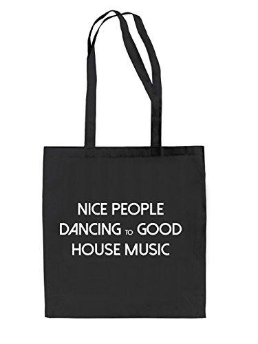 Dancing to House Jutebeutel Black