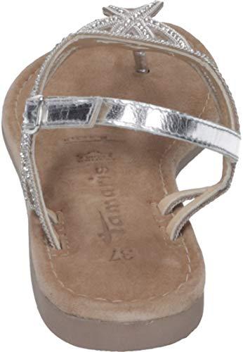 silver Tamaris Bride 28115 1 Femme 22 Argenté 933 Sandales Cheville 1 Metall 5rzXwqErx