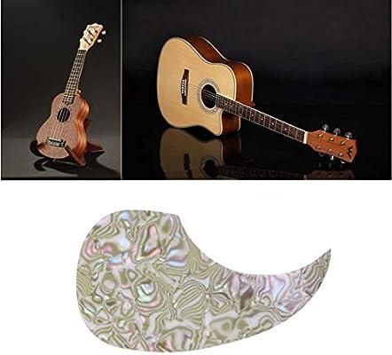 Healifty Acoustic Guitar Pickguard Anti-Scratch Guard Plate Replacement Water Drop Shape Pick Guards Guitar Accessories