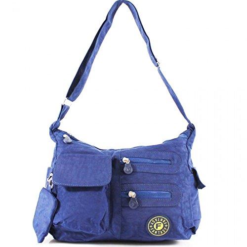 YDezire? Ladies Multi Pockets Cross Body Messenger Bag Women Shoulder Tote Satchel Handbag UK Navy