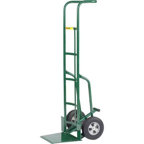 Little Giant TF-370-10 Tall Hand Truck with Foot Kick and Wheel Guards, 10'' Solid Rubber Tire Wheel, 800 lbs Capacity, 60'' Height