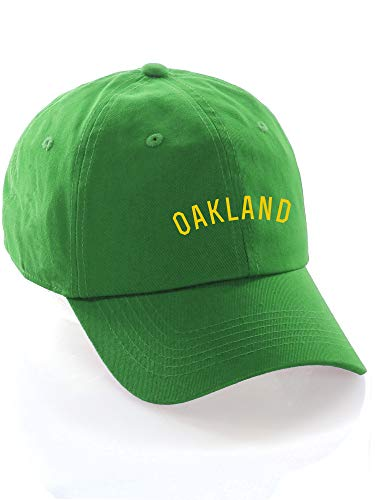 Daxton USA Cities Baseball Dad Hat Cap Cotton Unstructure Low Profile Strapback - Oakland Green -