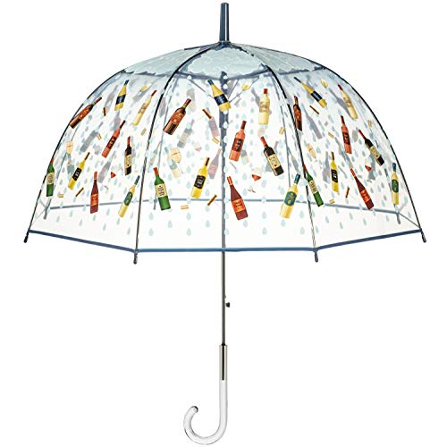 Maad Brands 'It's Raining Wine' Bubble Dome Umbrella - The Perfect Novelty Gift Girlfriends, Friends Wine Lovers