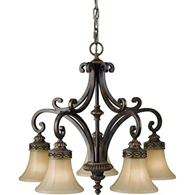 Feiss F2397/5 Drawing Room 5 Light 1 Tier Chandelier,