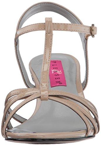 Pleaser Pink Label Kitten-06 - Sandalias con tacón Mujer Beige (Cream Pat)