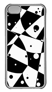iPhone 5c Cases Unique Cool PC Transparent Cases Personalized Design Gray And White Dot