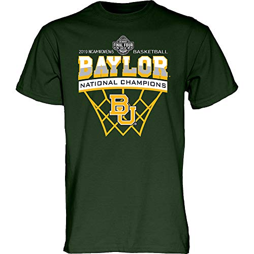 Elite Fan Shop Baylor Bears Womens National Basketball Championship Tshirt 2019 Net Green - L