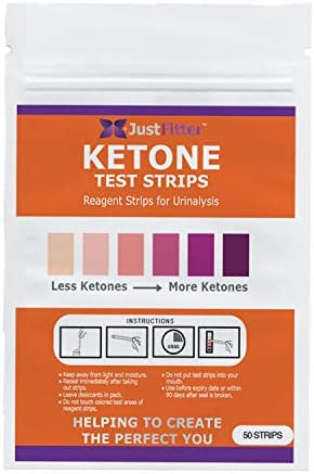 Ketone Keto Urine Test Strips Travel Pack. 50 Strips. Lose Weight, Look & Feel Fabulous on a Low Carb Ketogenic or HCG Diet. Get Your Body Back! Accurately Measure Your Fat Burning Ketosis Levels. 1
