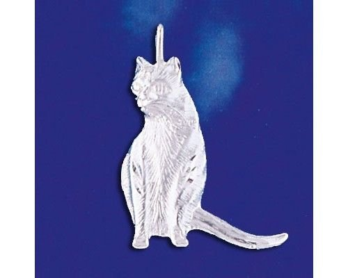 Sterling Silver Cat Pendant Kitty Pussycat Italian Charm Solid 925 Italy New Jewelry Making Supply Pendant Bracelet DIY Crafting by Wholesale Charms (Charm Kitty Italian)