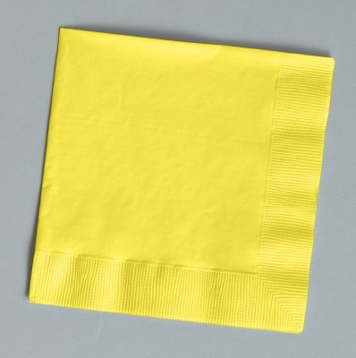 (Mimosa (Light Yellow) Dinner Napkins (3-Ply)(25 Pack) )