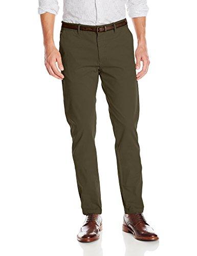 Scotch & Soda Men's Cotton Stretch Belted Chino, Grey Melange, 33 (Stretch Cotton Belted)