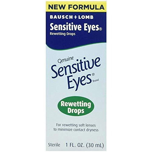 Bausch & Lomb Sensitive Eyes Rewetting Drops 1 oz (Pack of 2)