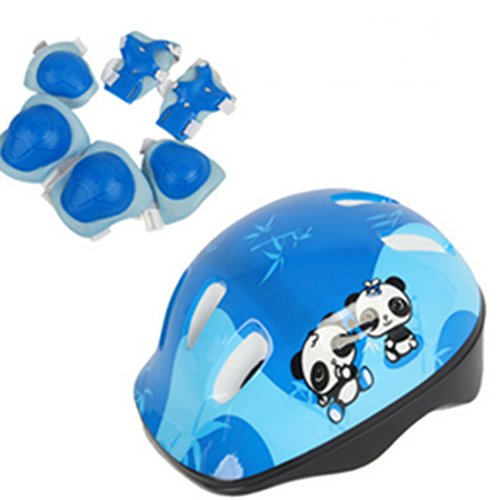HMANE Protective Gear Set, 7Pcs Kids Adjustable Sports Protective Set Safety Pad Safeguard for Skating Bicycling Protection and Other Extreme Sports Activities by HMANE