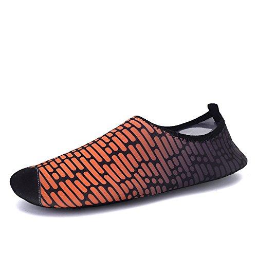 Eagsouni Swim Water Shoes Barefoot Aqua Socks Summer Beach Pool Swimming Surf Yoga Skin Shoes for Unisex Men Women Kids #6orange Nu0yd8Q5a