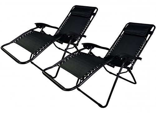 New Zero Gravity Chairs Case Of 2 Lounge Patio Chairs Outdoor Yard Beach TKT-11 (Wrought Iron Furniture Town Patio Cape)