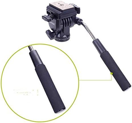 Jusun Camera Monopod Tripod Color : Black Fluid Pan Head Unipod Bracket Base Bracket Smart Phone Clip Hand Take Photo Stand Accessories