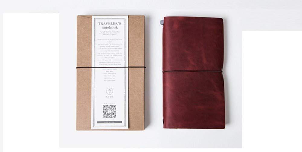 YWHY Cuaderno Cuaderno De Viaje De Cuero Libreta De Eficiencia Notas De Eficiencia De Portátil Libro De Trabajo Conjunto Diario, A 99e30c