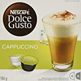 NESCAFÉ DOLCE GUSTO NESCAFÉ DOLCE GUSTO Coffee Capsules – Cappuccino Pods – 16 Single Serve Coffee and Milk Capsules, 16x200 g (Pack of 3, Total 48 Capsules, 24 Cups), 24 Count