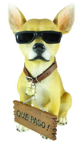 Private Label Cool Chillin Chihuahua Dog Welcome Statue