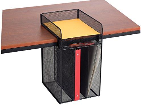 Safco Products 3241BL Onyx Mesh Vertical Hanging Desk Storage, Black